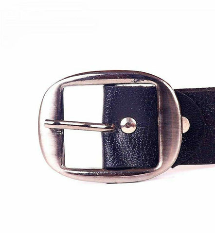 Black Solid Yarrison Carved Buckle Belt For Men Price in Nepal