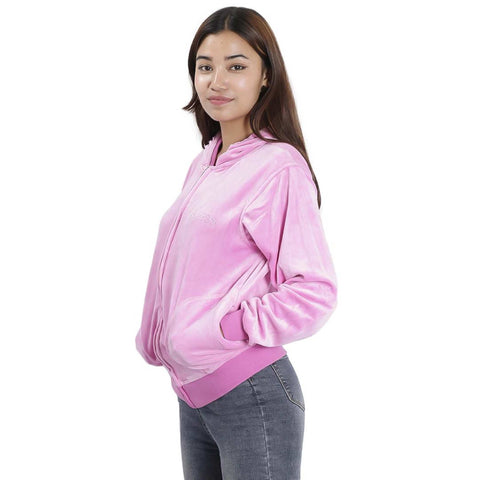 Women's Velvet Full Sleeved Front Open Hoodie by Attire Nepal price in nepal