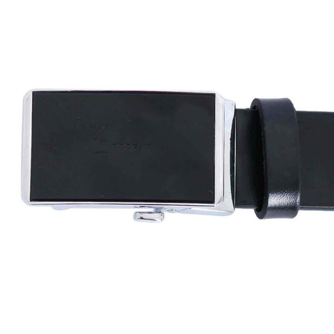 Black Solid Formal Belt For Men