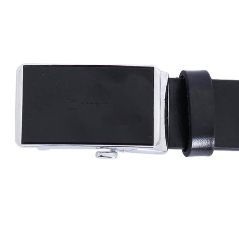 Combo Of 2 Black Solid Formal Belt For Men