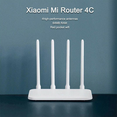New Xiaomi Mi Router 4C 4 Antennas 2.4G 300Mbps APP Control WiFi Wireless Router price in Nepal