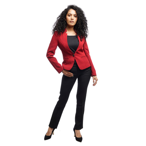Women's Structured Double Button Fitted Blazer by Attire Nepal