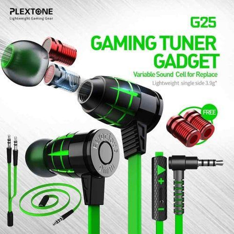 PLEXTONE HAMMERHEAD G25 GAMING EARPHONES WITH MIC IN EAR NOISE ISOLATION HEADSETS VARIABLE SOUND CELL FOR REPLACE price in Nepal