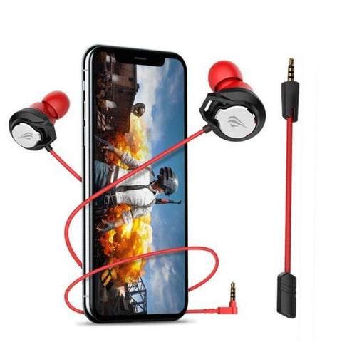 Havit GE02 Wired Black-Red Gaming Earphone with Mic