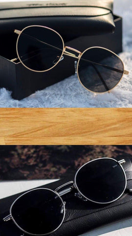 Black Polarized Around Sunglasses - (Unisex)