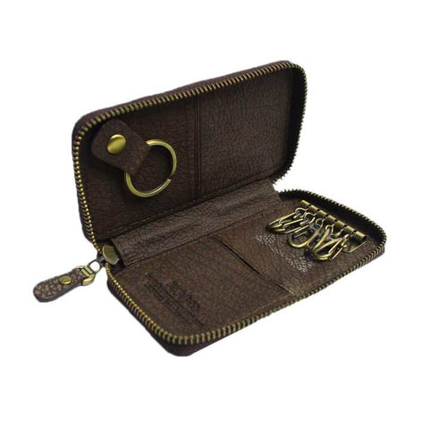 Cedar Brown Genuine Leather Key Holder