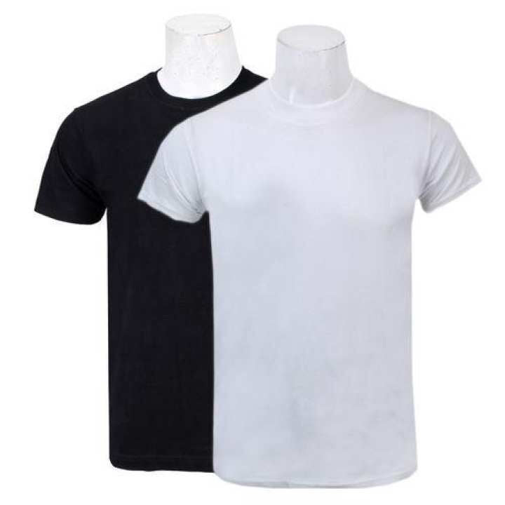 Pack Of Two Solid T-Shirt For Men/Women-(Black/White) 1 Ratings