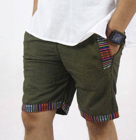 Green Cotton Shorts/ Half Pant For Men