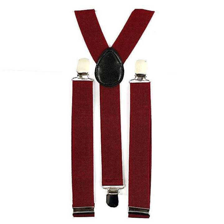 Maroon Spandex Suspender For Men