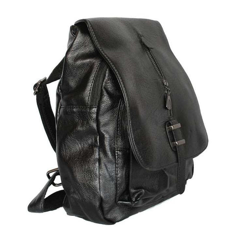 Synthetic Leather Backpack For Women