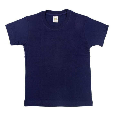 Navy Blue Plain Tshirt For Boys