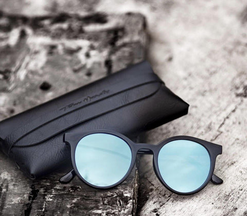 Blue Polarized Around Sunglasses - (Unisex)