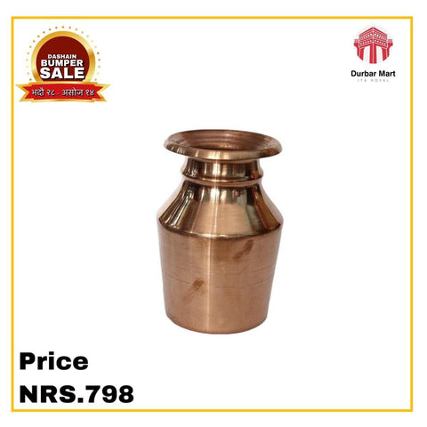 Copper water container  1 liter 1 pcs