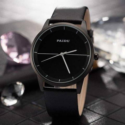 Paidu Brand Fashion Genuine Leather Strap Business Watch