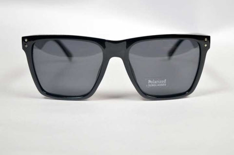 Full Black Polarized Square Sunglass- Unisex