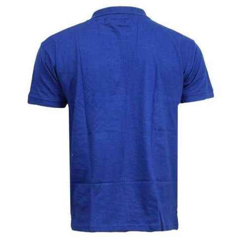 Royal Blue Solid Polo Neck T-Shirt For Men