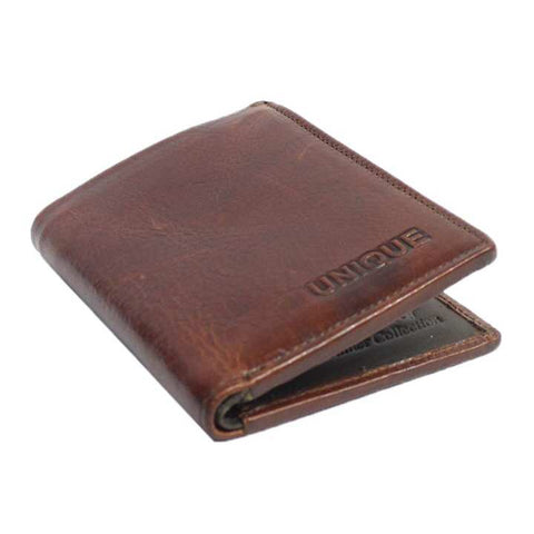 Unique Slim Genuine Leather Wallet For Men
