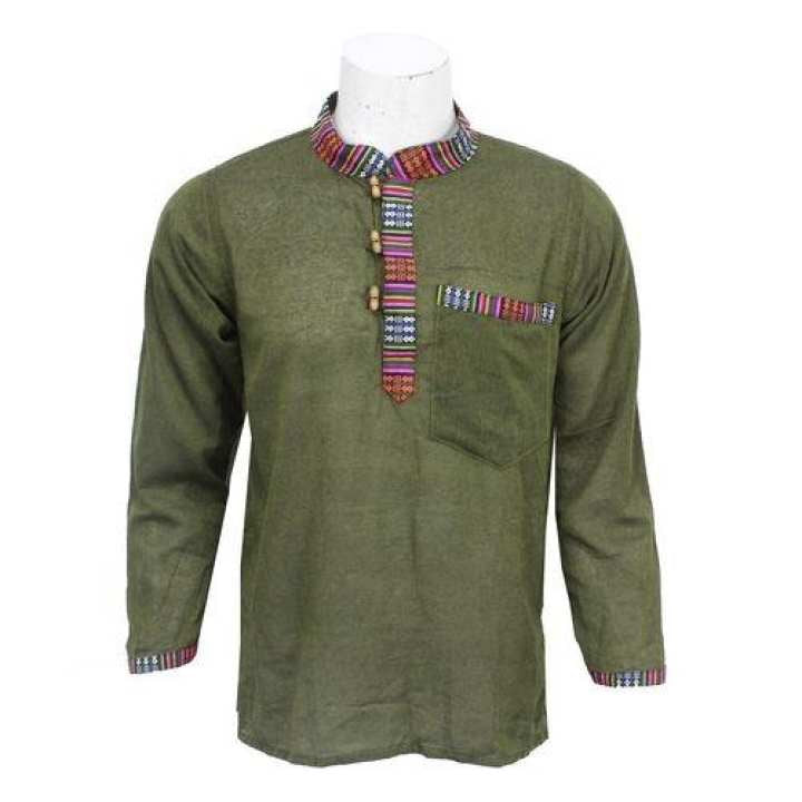 Green Bhutani Designed Kurta Shirt For Men / Women