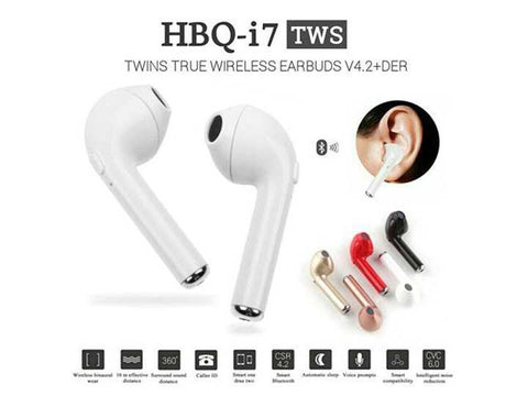 HBQ i7 TWS Twins (Dual L/R) True Wireless Earbuds Mini Bluetooth V4.2+EDR