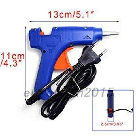 80W Electric Hot Glue Gun With 10Pcs Glue Sticks