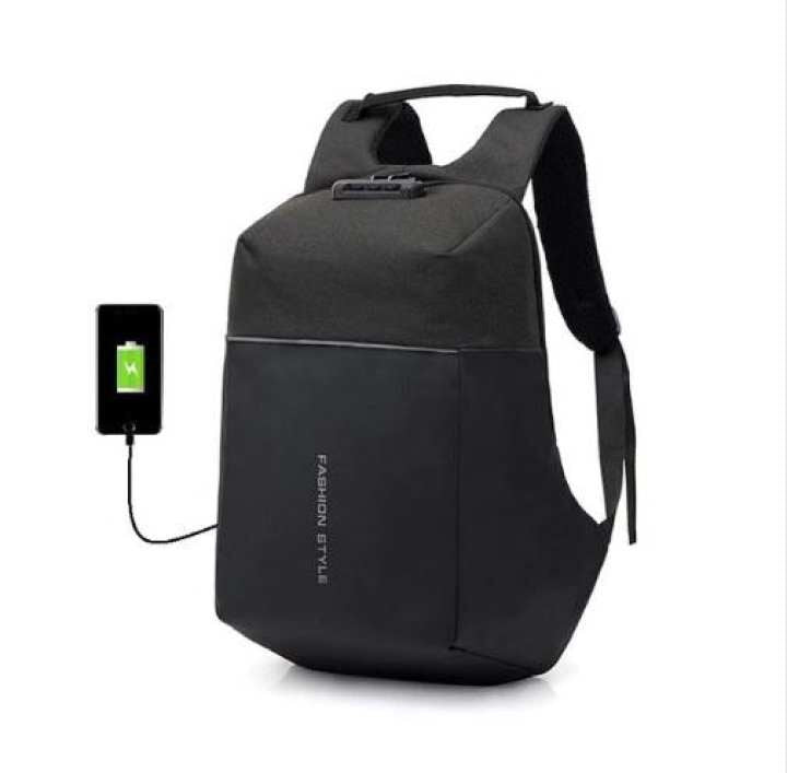 Waterproof Nylon Laptop Backpack Multi functional USB charging Anti theft V3