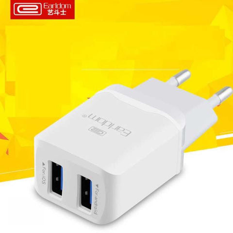 Earldom 2.4A Travel Dual USB Charger For Android