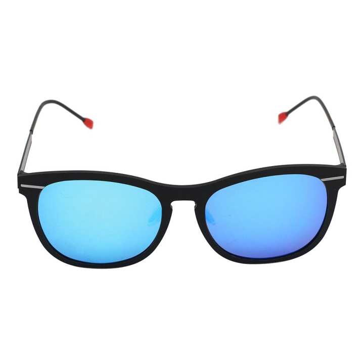 Blue Shaded Square Sunglasses For Men