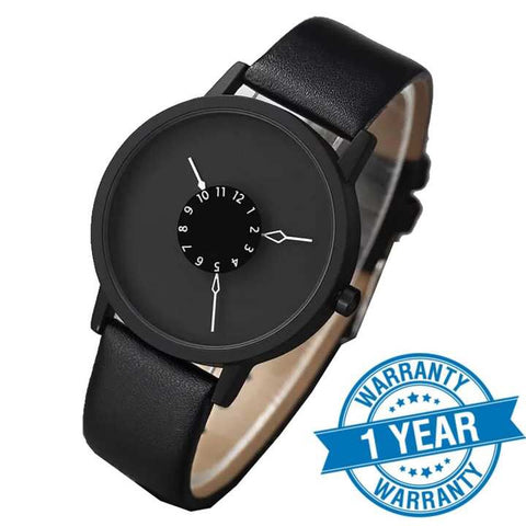 PAIDU Paidu Full Matte Black Belt Turntable Casual Watch For Women