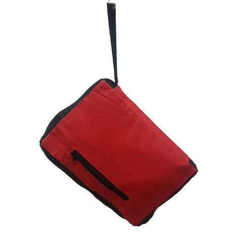 Portable Shopping Trolley Bag With Wheels Red