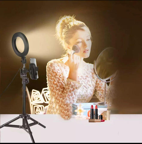 28W Ring Fluorescent Photo Lamp Ring Photo Video Light+ 200cm Light Stand for Make up Selfie light and Photo Portrait Lighting