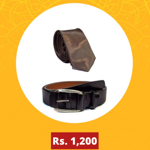 Combo Belt and Tie For Men