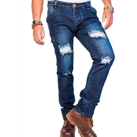 Virjeans Slim-Fit Grunge Jeans/Denim Pant (VJC 659) stretchable