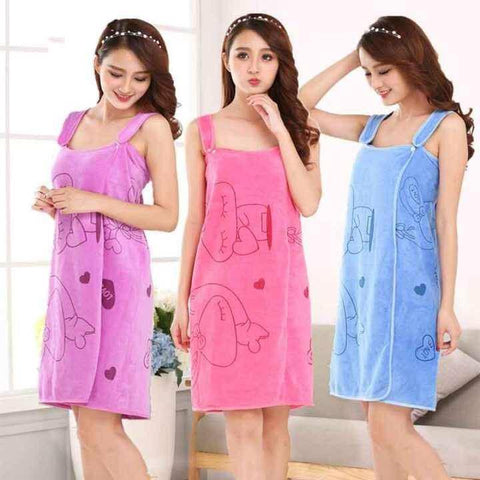 Sexy Women Microfiber Bath Towel Nepalikart Bath Robe Bathrobe Body Spa Bath Bow Wrap Towel Super Absorbent Bath Gown