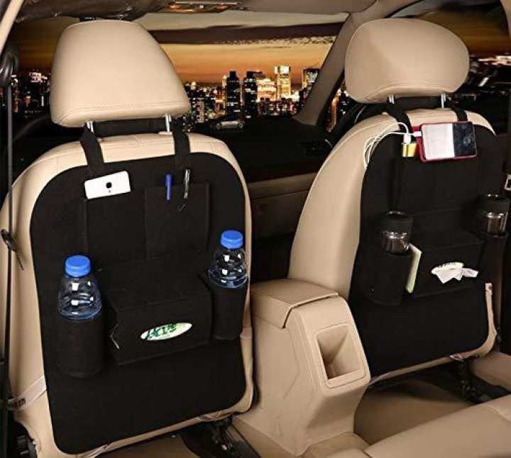 Vehicle Car Back Seat Mounted Hanging Organizer Black