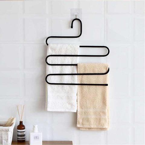 Hanger Multi-layer S-style Hanger Closet Organize Storage for Shock Jeans Clothes