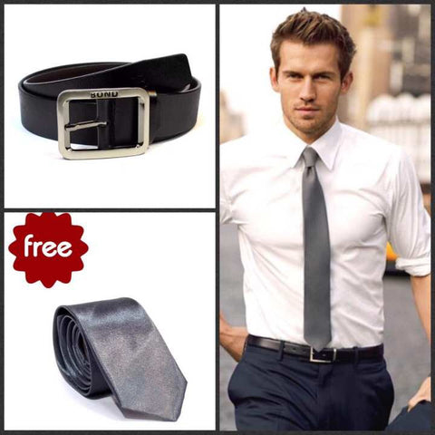 Get FREE Slim Tie with Formal Bond Belt For Men