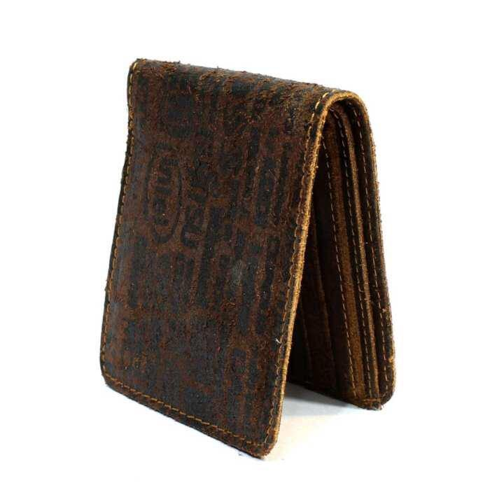 2 Folding Dark Brown Genuine Leather Wallet For Men