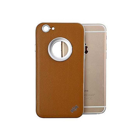 X-Doria Apple iPhone 6+/6S+ Multi-Angle Inbuilt Metal Ring Kickstand Aluminium + Leather Back Cover