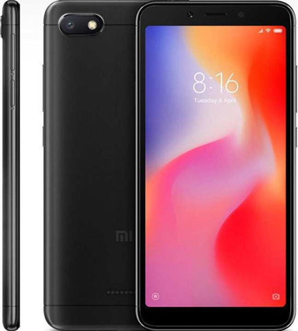 "Xiaomi Redmi 6A (2GB RAM, 16GB ROM) 5.4"" Screen - Black"
