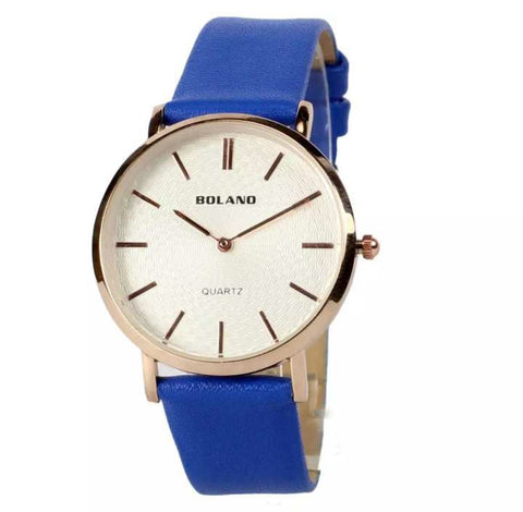 Bolano New Designer Classical Fashion Casual Leather Watches