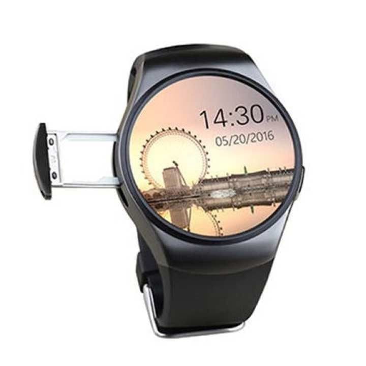 KW18 Smartwatch Phone support TF SIM Card Heart Rate