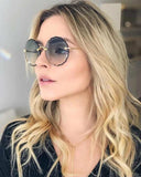 Round Trendy Frame less Sunglasses