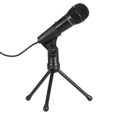 SF-910 Professional 3.5mm Condenser Microphone Sound Studio Podcast w/ Stand