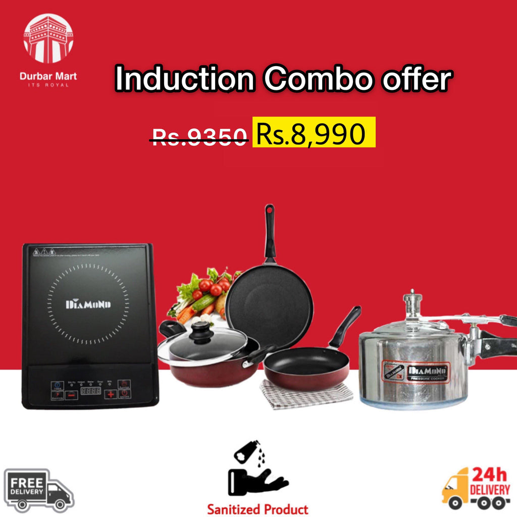 Induction ,cooker, 3 set cookware combo offer