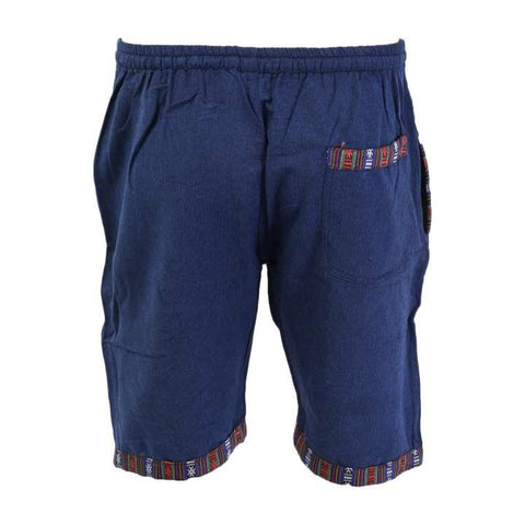 Blue Cotton Shorts/ Half Pant For Men