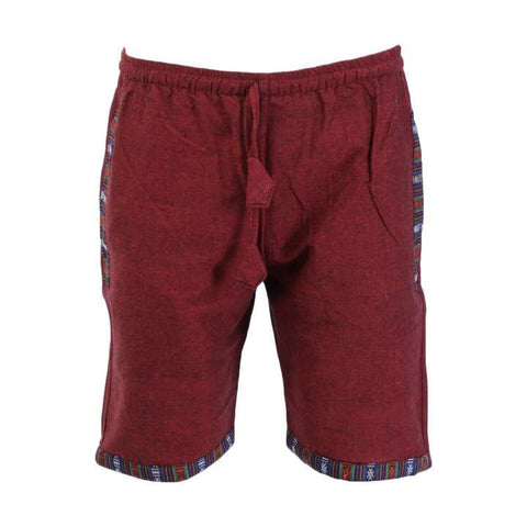 Red Cotton Cotton Shorts/ Half Pant For Men