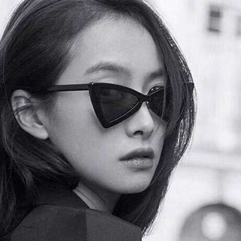 Triangle Cat Eye Vintage Black Leopard Butterfly Sunglasses For Women