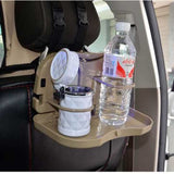 Foldable Travel Dining Tray, Rack and Bottle Holder for Car