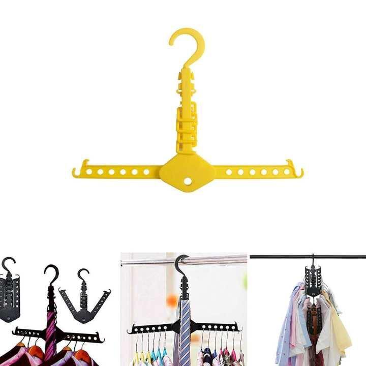 Magic Clothes Hangers Organizer Foldable Clothing Hooks Collapsible Rack