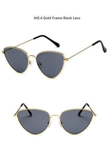New Designer Metal Cat Trendy Eye Sunglass